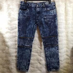 Trillnation Moto Denim Jeans sz 38